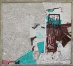 Kertkapu, 1989 kl, sgraffito, hungarocell, farost, 100x110 cm